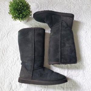 UGG Australia | Black Tall Classic Boots size 8